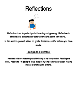 Celebration and Reflection Pages