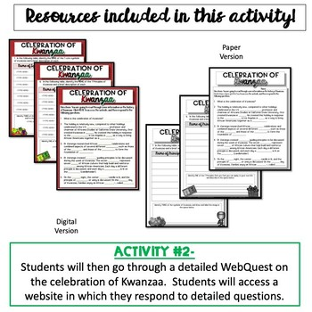 Celebration of Kwanzaa {Digital AND Paper}