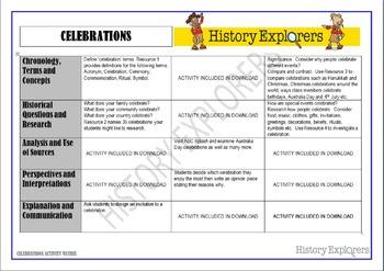 Celebrations (Activity Matrix Resource Pack)