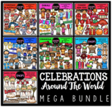 Celebrations Around The World Clip Art Mega Bundle {Educlips Clipart}