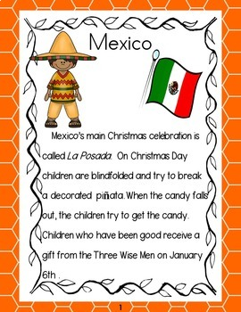 Celebrations Around the World or Christmas Around the World 1st and 2nd