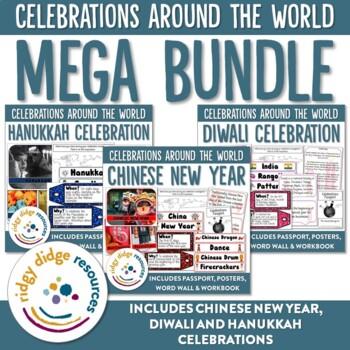 Celebrations Mega Bundle 1 - Chinese New Year, Diwali, Hanukkah