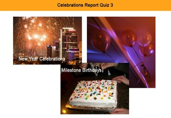 ESL resource: Celebrations Report Interactive Resource 3