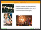 Celebrations Vocabulary Interactive Resource  1