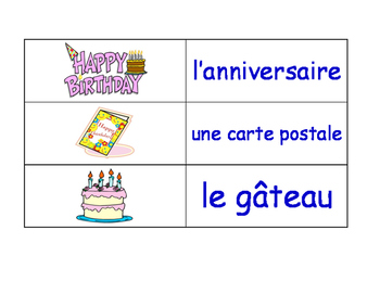 Celebrations and Christmas in French Flash Cards