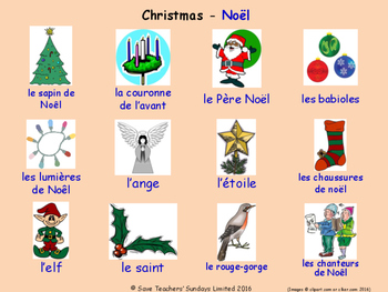 Celebrations and Christmas in French Posters / Slides