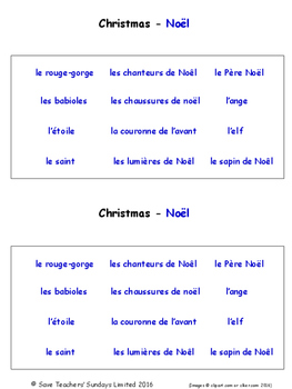 Celebrations and Christmas in French Worksheets