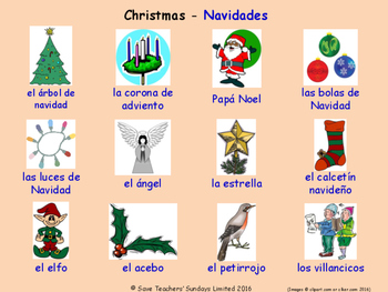 Celebrations and Christmas in Spanish Posters / Slides