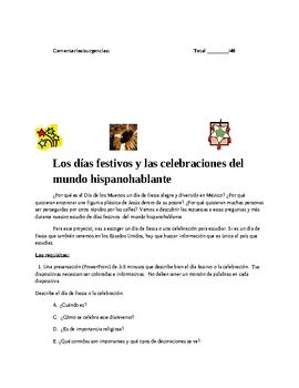 Celebrations and Holidays of the Spanish Speaking World Dias Festivos