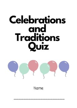 Celebrations and Traditions Quiz