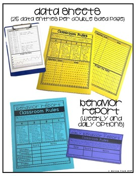 Celebrations at School- Behavior Basics Data Bundle