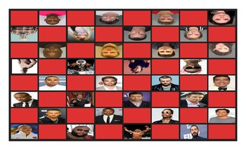 Celebrities Acting Irresponsibly Legal Size Photo Checkerboard Game