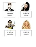 Celebrities Personal Information - Beginner/Elementary