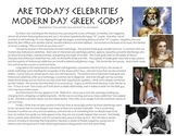 Celebrities vs Greek Gods reading & activity