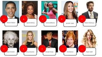 Celebrity Adjective Listening