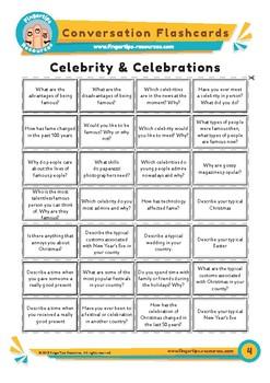 Celebrity & Celebrations - Conversation Flashcards