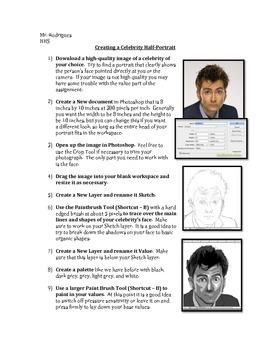 Celebrity Half-Portrait - Photoshop (Computer Art Assignment 10)