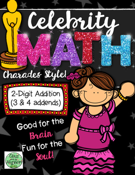 Celebrity Math: 2-Digit Addition with 3 and 4 Addends