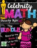 Celebrity Math BUNDLE! (Math Charades)