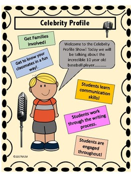 Celebrity Profile Show-A Writing Project. Students get to know each other!
