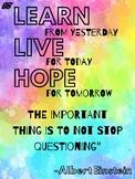 Celebrity Quote Posters- Rainbow