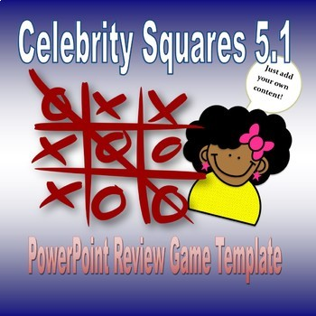 Celebrity Squares 51 Game Template By Miss Sherrells Game Station