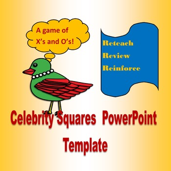 Celebrity Squares PowerPoint Template
