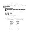 Celebrity Toxicology Inquiry Activity