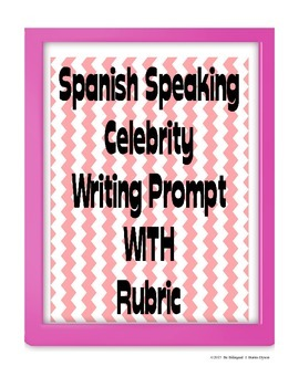 Celebrity Writing Prompt in Spanish - Physical Description (Adjective Agreement)
