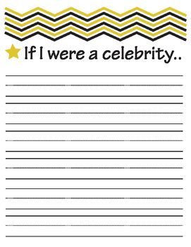 Celebrity and Millionaire Writing Prompt