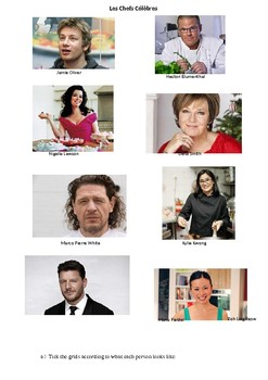 Celebrity chefs - physical appearance French