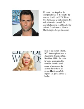 Celebrity facts in Spanish