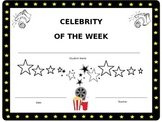 Celebrity of the Week Certificate