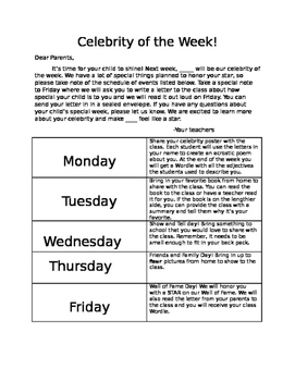 Celebrity of the Week- Hollywood Themed Classroom
