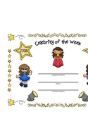 Celebrity of the Week Student Certificates