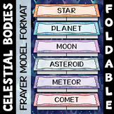 Space Vocabulary Foldable - Great for Astronomy Interactive Notebooks