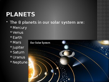 Celestial Bodies in the Solar System