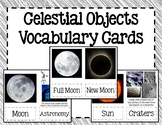 Moon, Stars and Sun (and other Celestial Objects) Vocabulary Cards