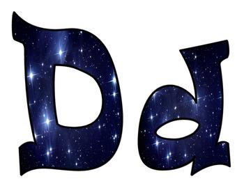 Celestial Stars Bulletin Board Letters