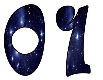 Celestial Stars Bulletin Board Numbers