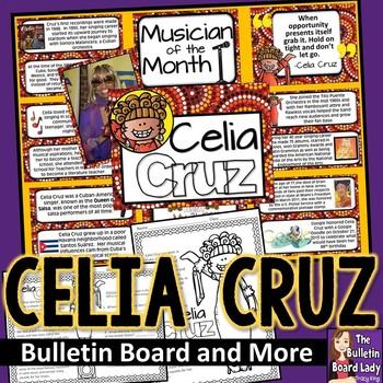 Celia Cruz Bulletin Board and Activities