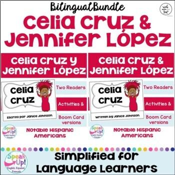 Celia Cruz & Jennifer López Readers {Hispanic Heritage Month} Bilingual version