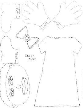 Celia Cruz character cut out
