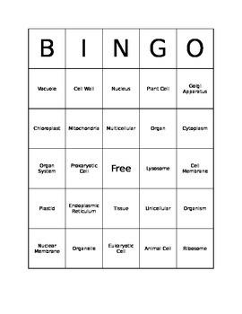 Cell Bingo - 1 Card