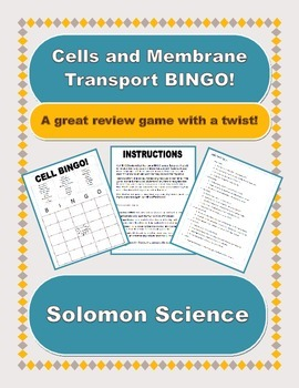 Cell Biology BINGO! Editable Version!