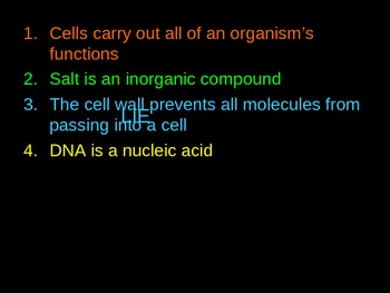 Cell Biology Game: Liar