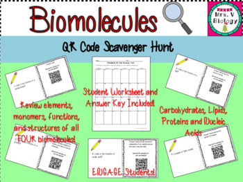 Cell Biology QR Code Bundle
