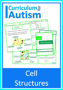 Cell Biology Comprehension Worksheets and Mini Book, Autism, Science
