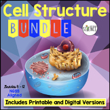 Cells Bundle PowerPoint Notes Labs Task Cards Crossword Review Games Tests