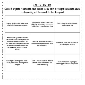 Cell Choice Boards: Easy and Engaging Differentiation!
